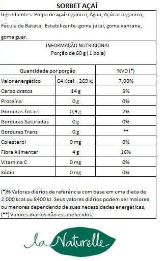 Tabela Nutricional Sorbet Acaí9