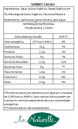 Tabela Nutricional Sorbet Cacau3